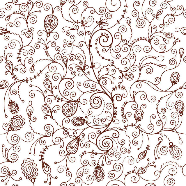 Free Decorative Retro Seamless Floral Pattern