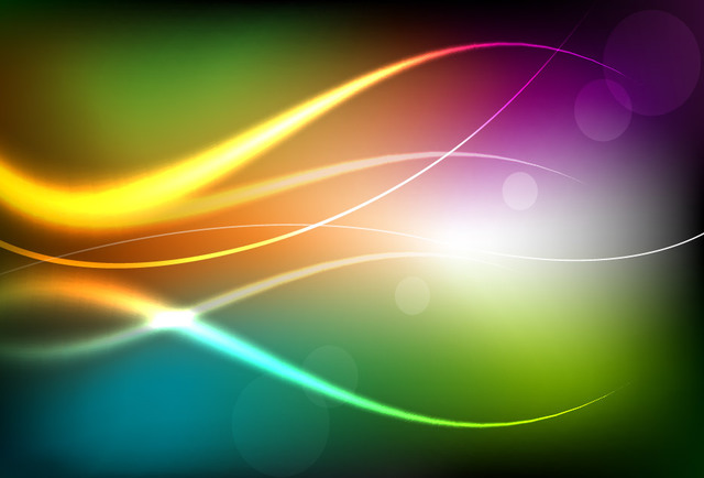 Free Colorful Background with Bright Curves