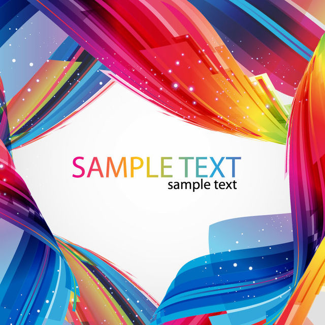 Free Colorful Twisted Abstract Lines Frame Background