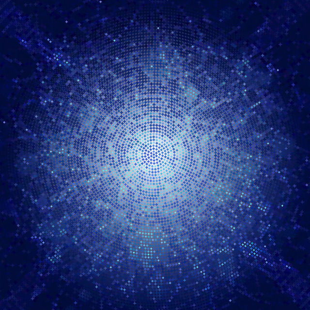 Free Blue Pixilated Starry Mosaic Elliptical Texture