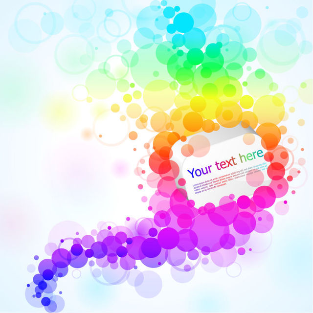 Free Colorful Floating Bokeh Circular Banner