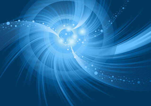 Free Blue Spiral Vortex Swirls Background