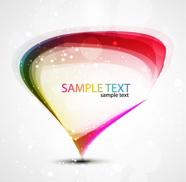 Free Colorful Droplet Banner Template