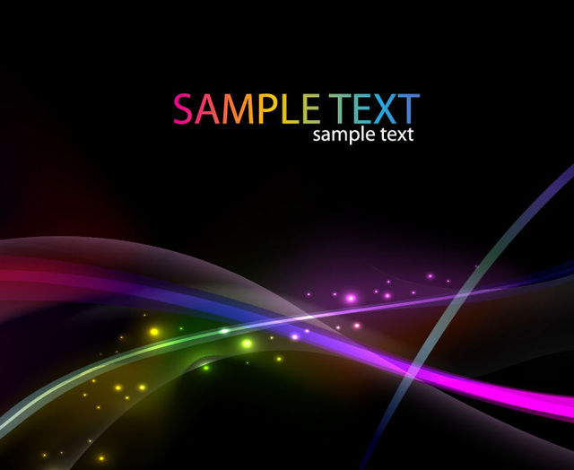 Dynamic Colorful Lines & Glares on Dark Background