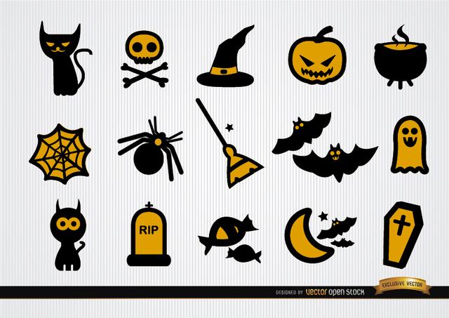 Free Funny Halloween icons set