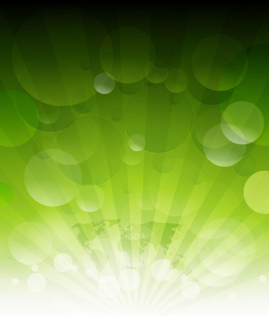 Free Shining Sun Rays on Green with Bubbles & Map