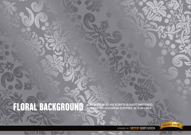 Free Silver floral background