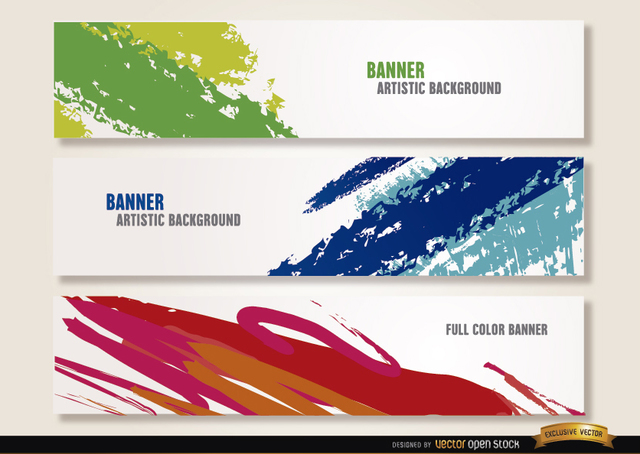 Free Artistic paint brushstrokes headers