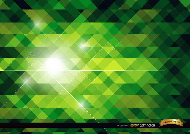 Free Green polygonal bright background