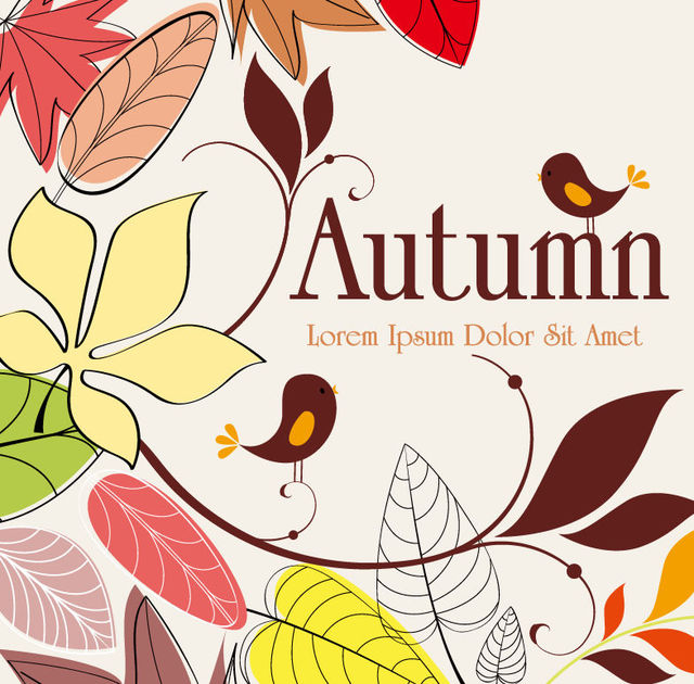 Free Vintage Abstract Hand Drawn Autumn Background