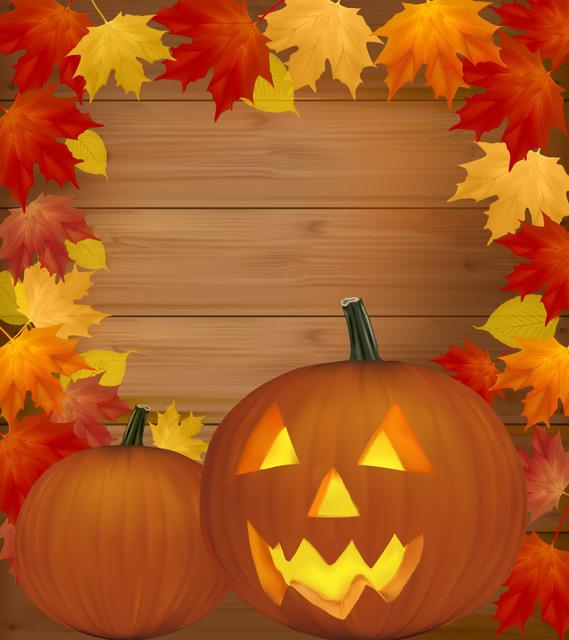 Free Autumn Framed Creepy Pumpkin Halloween Poster