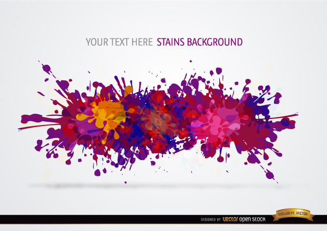 Free Colorful paint drops background