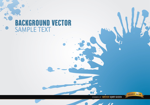 Free Blue spots of paint background