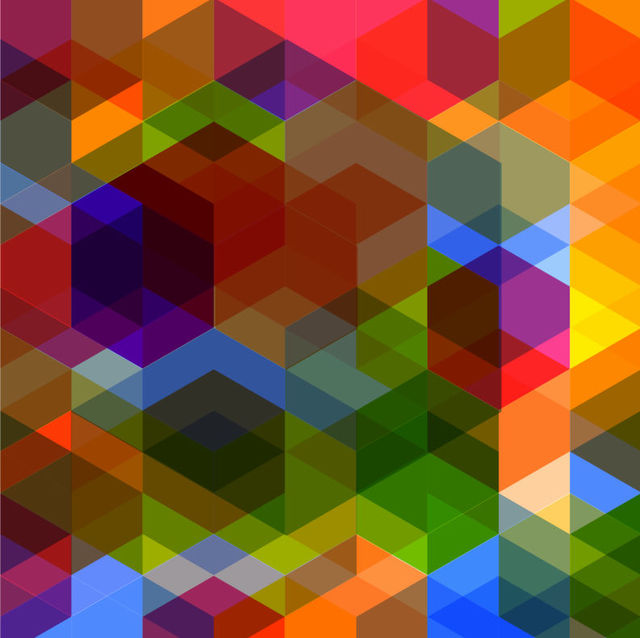 Free Rhombus Arrowhead Polygonal Colorful Background