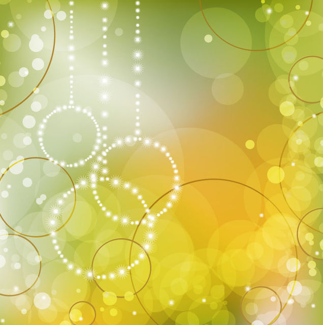 Free Abstract Bokeh Circles Green Background