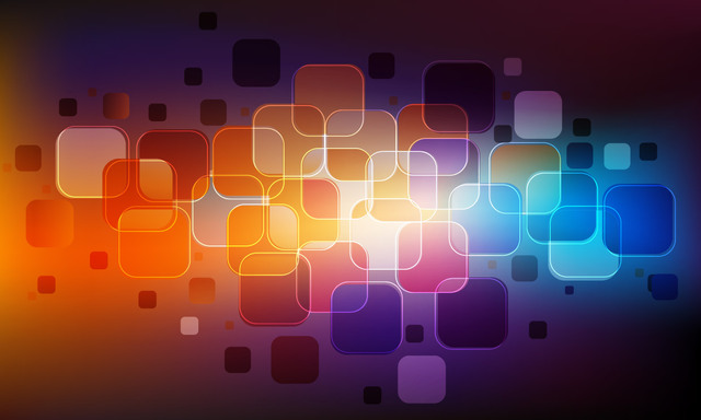 Free Glossy Abstract Colorful Squares Background