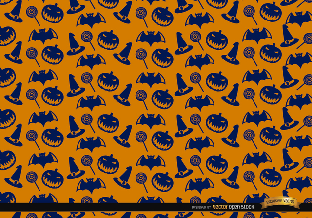 Free Blue Halloween texture on orange background