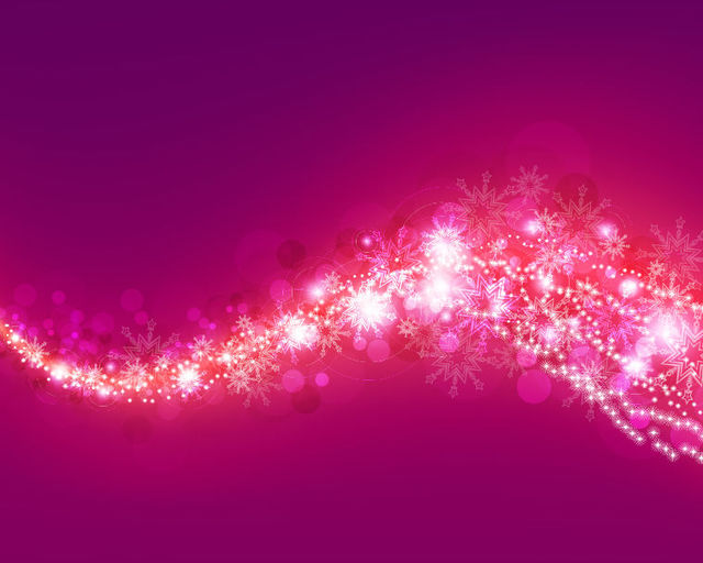 Free Pink & Purple Bokeh Background with Snowflakes