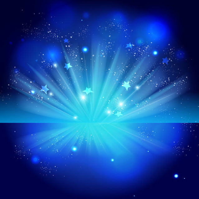 Free Sparkling Blue Celebration Night Background
