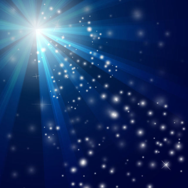 Free Sun Glares & Snowy Sparkles Blue Background