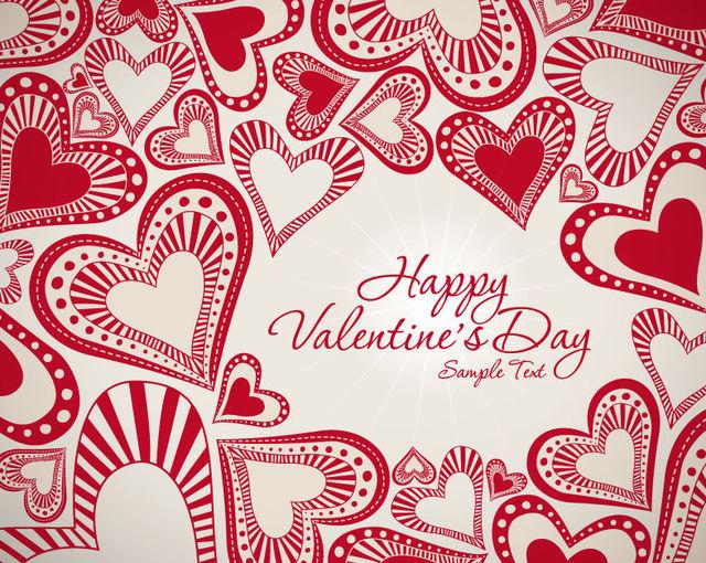 Free Vintage Decorative Red Valentine Background