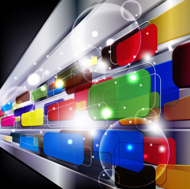Dynamic Colorful 3D Squares Background
