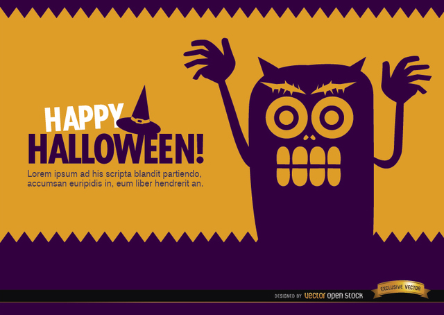 Free Halloween creepy monster wallpaper
