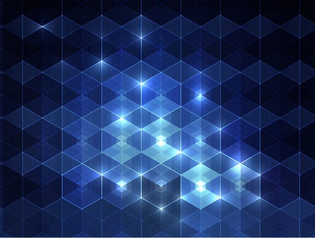 Free Glowing Blue Triangular Pattern Background