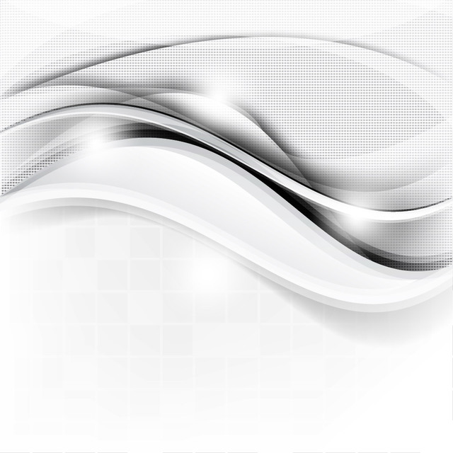 Free Abstract Waves & Dotted Texture Silver Background