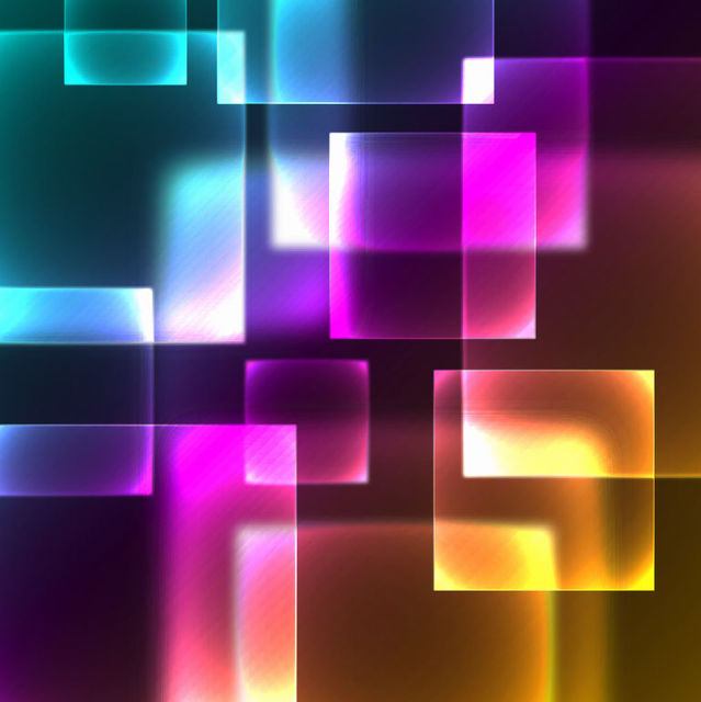 Free Neon Glow High Tech Squares Background