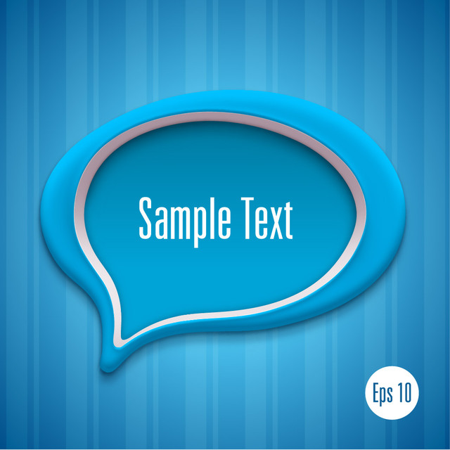 Free Blue Talking Bubble Background Template
