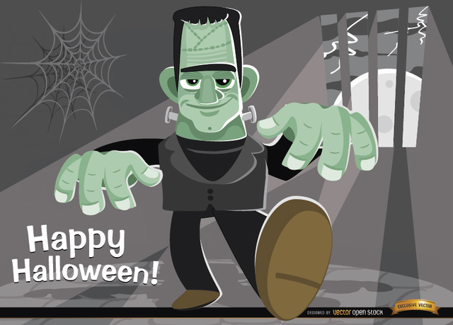 Free Frankenstein's Monster Halloween background