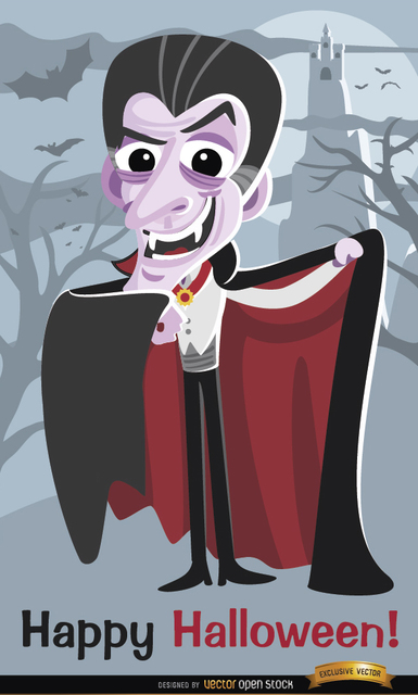 Free Dracula Vampire Halloween poster