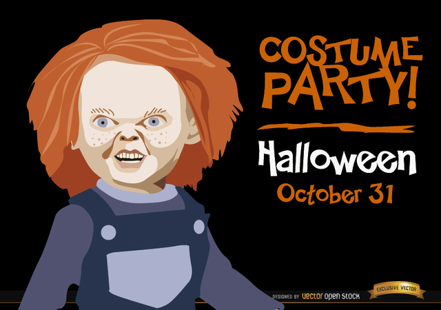 Free Halloween invitation promo Chucky