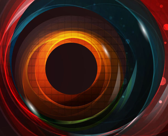 Free Colorful Glossy Swirling Hole Background