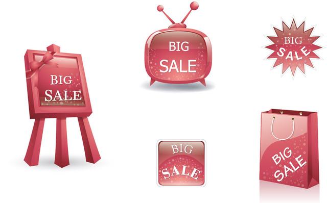 Free Glossy 3D Big Sale Design Element