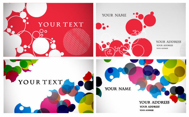 Free Circular Bubbles Business Card Set