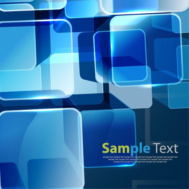 Fluorescent Blue Squares Business Background
