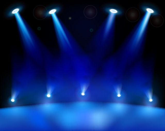 Free Realistic Blue Stage Light Background