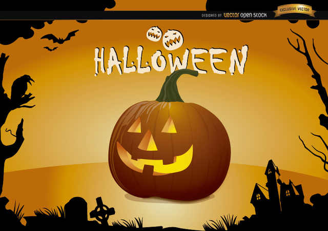 Free Halloween creepy pumpkin wallpaper