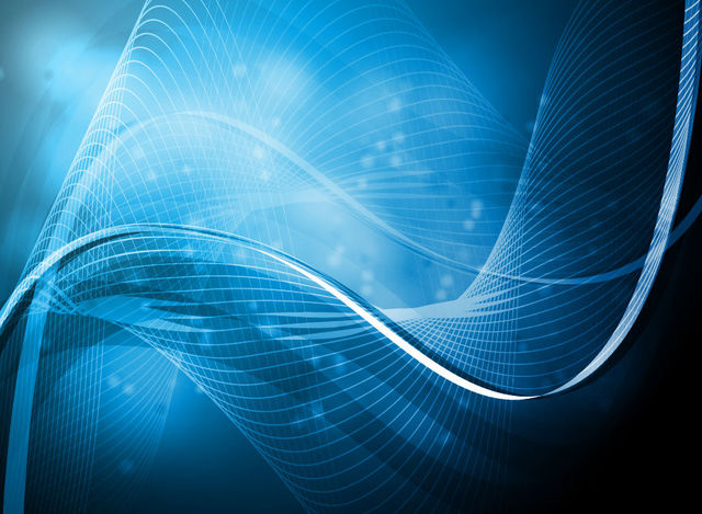 Free Abstract Blue Light Waves & Lines Background