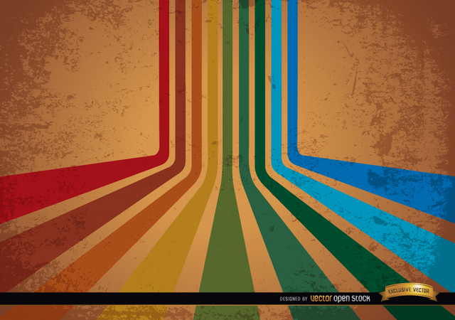 Free Abstract retro colorful stripes background