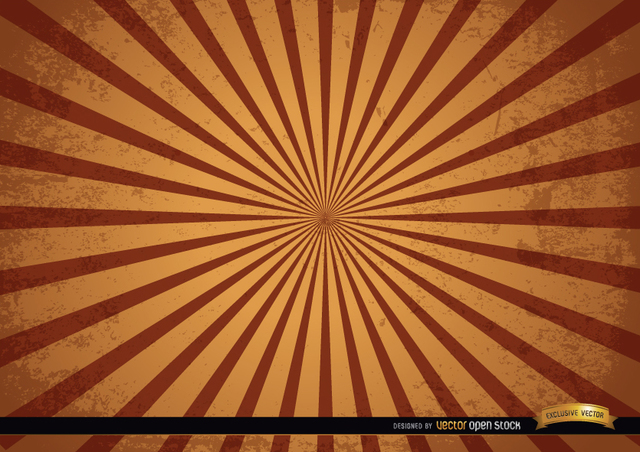 Free Vintage grunge radial stripes background
