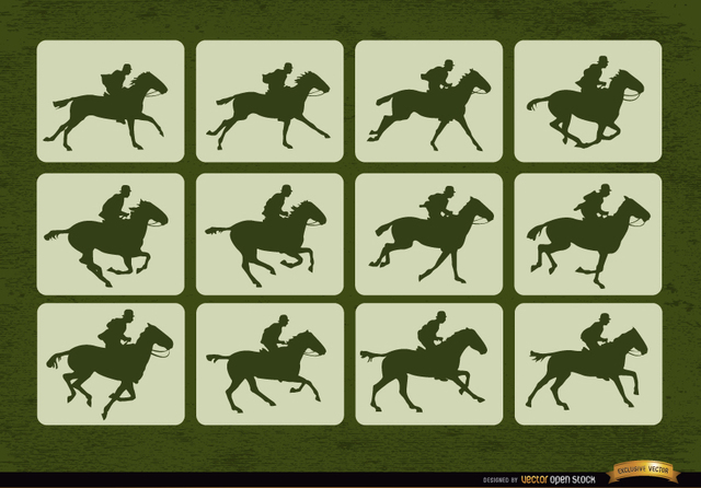 Free Horse racing sport motion frames