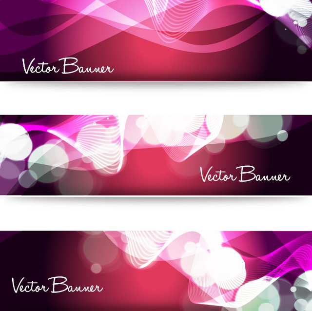 Free Shiny Dynamic Light Ripples Banner Set
