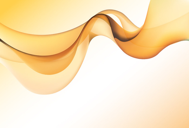 Free Golden Abstract Smoky Wave Background