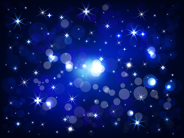 Free Shiny Bokeh with Starlight Night Background