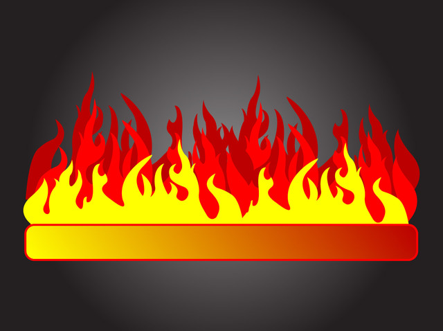 Free Abstract 3 Stage Fire Flame Banner