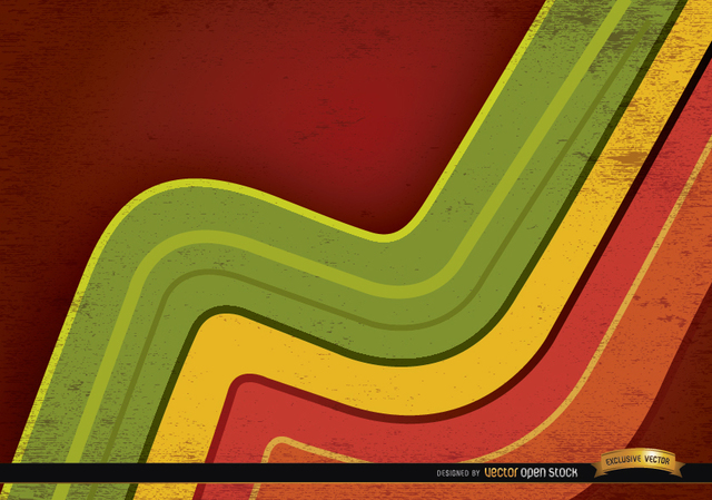 Free Abstract colored curved lines background