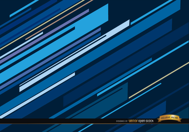 Free Abstract blue oblique lines background